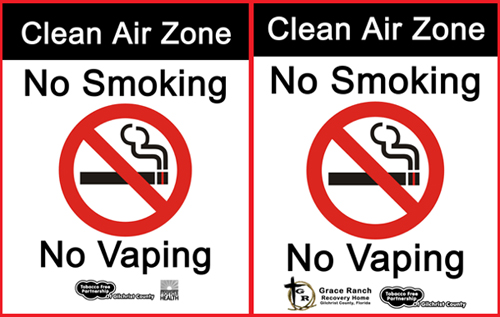Gilchrist Tobacco Free Signs